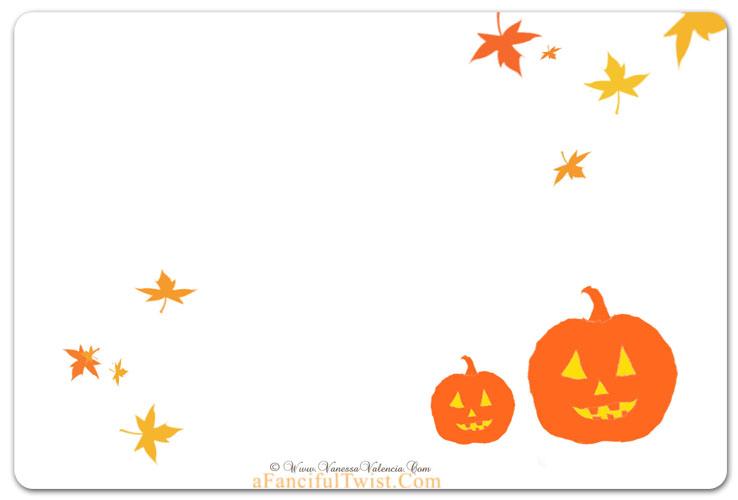 Cottage Halloween Pumpkins back of card