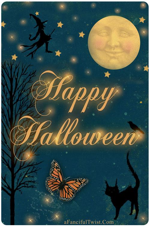 Hallowen Moon front of card