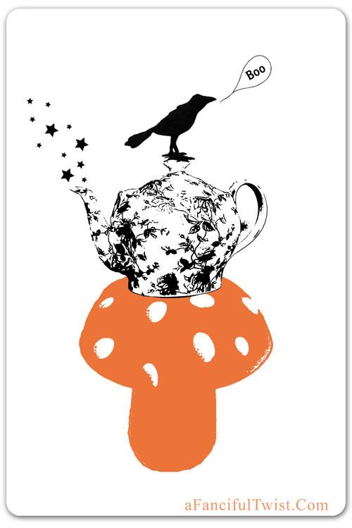 Halloween Tea  front of card