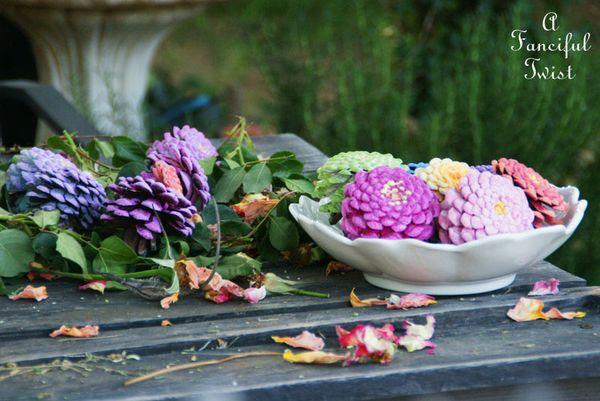 Pinecone flowers 13