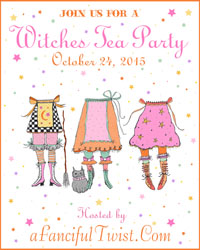Witches tea party button