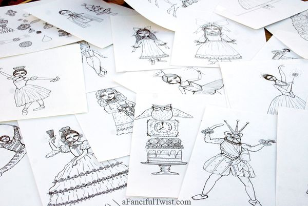 Nutcracker drawings 1