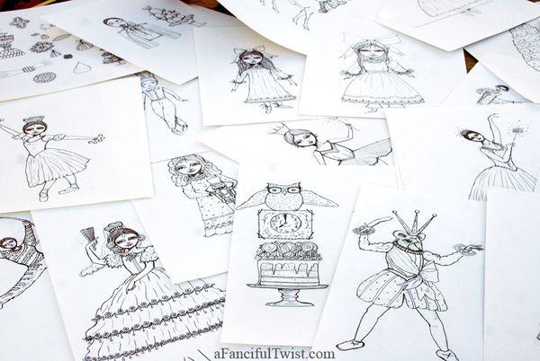 Nutcracker drawings 1