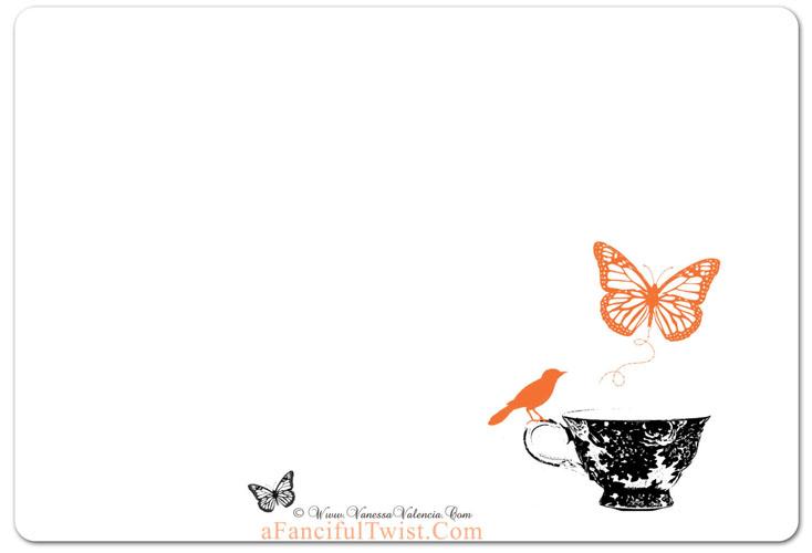 Halloween Tea  back of card