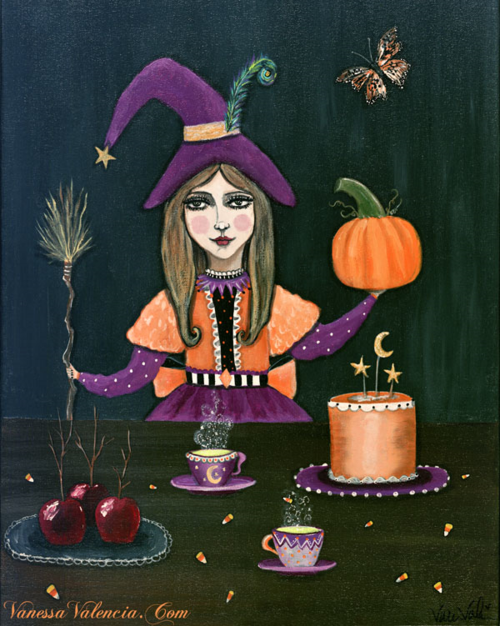 Halloween Witch Print