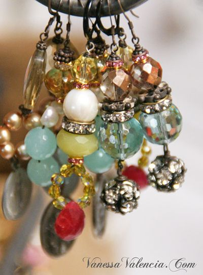 Vanessa Valencia Jewelry Pearls gems and Vintage bits 9