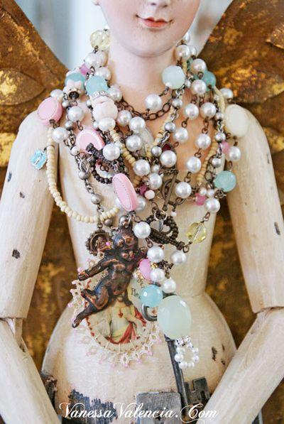 Vanessa Valencia Jewelry Pearls gems and Vintage bits 11