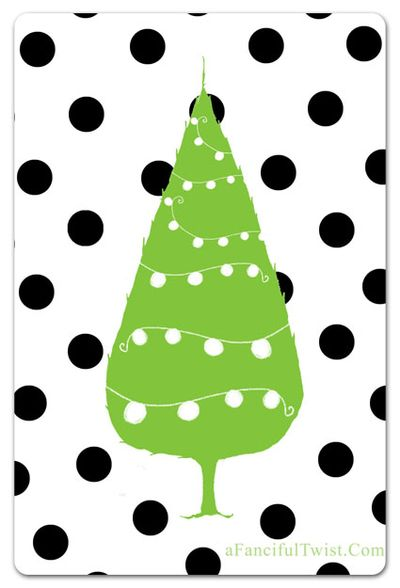 Dots tree front a