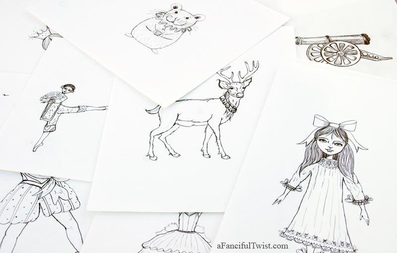 Nutcracker drawings 4