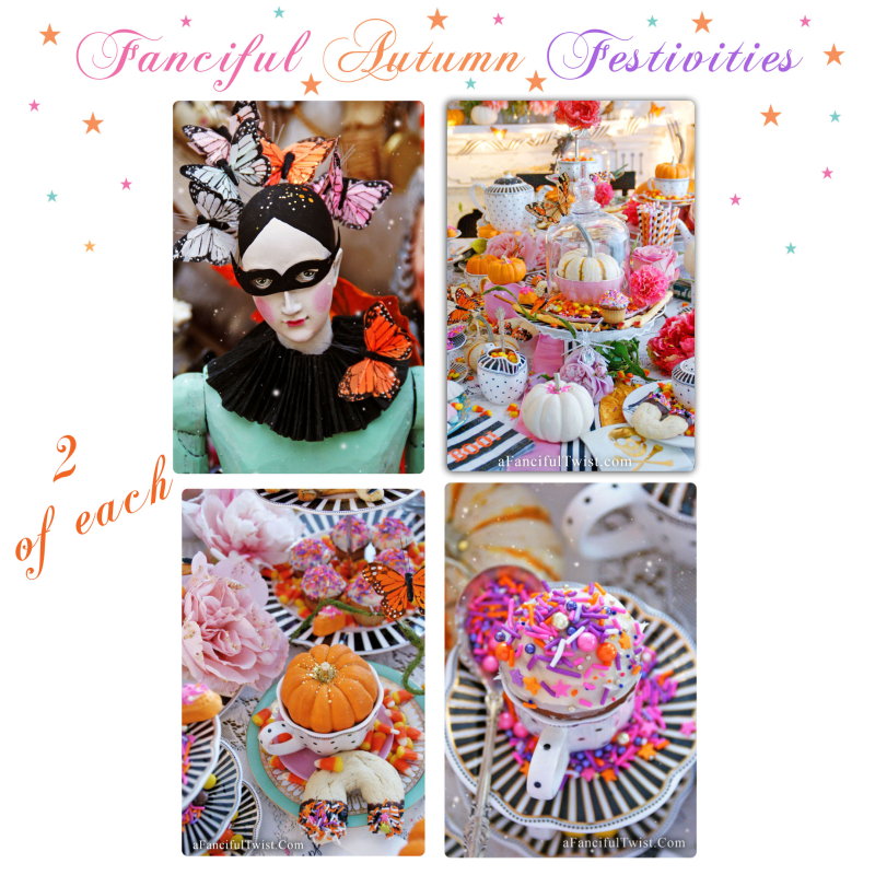 Fanciful fall festivities card pack