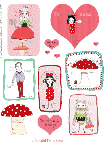 A Fanciful Twist Free Valentines