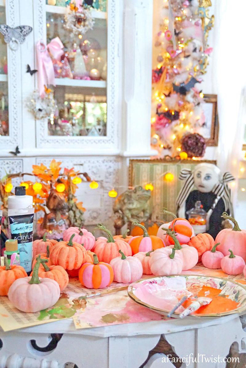 Painting pumpkins 8