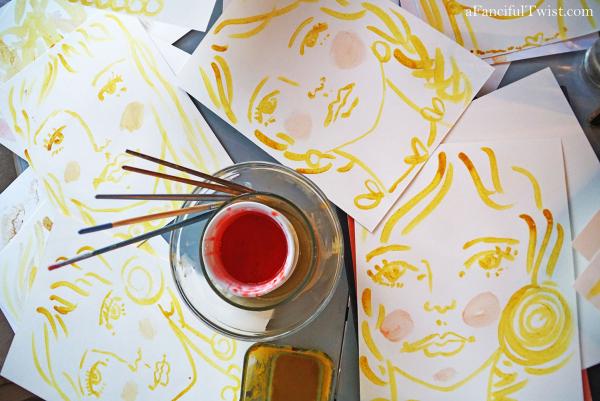 Homemade tempera paint 6