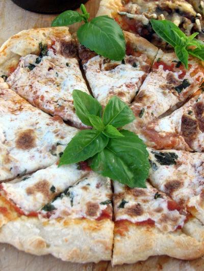 Mozzarella_basil_pizza