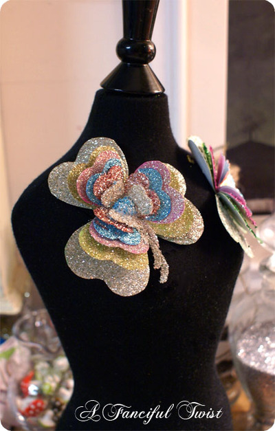 Sparkly Clover Brooch by A Fanciful Twist