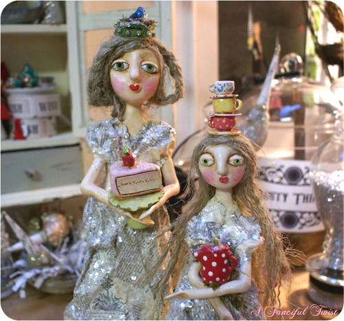 Art Dolls Fairytale Forest Creatures Fungi: Cake girl amp; Tea time Girl