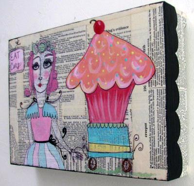 Super Bake Girl, Cupcake (side)