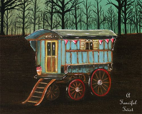 Gypsy Wagon Painting