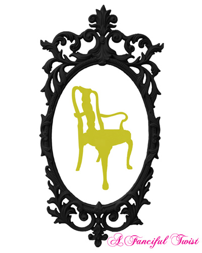 Charming Silhouettes - Chartreuse Chair