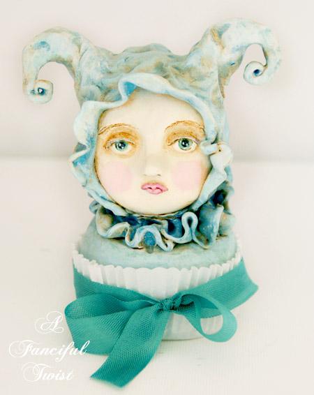 Celeste Fondant Blueberrymore cakehead front