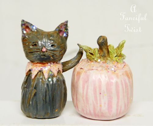Fritzy McMeowsers and giant fairytale pumpkin front