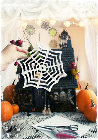 Paper Spider Webs {2 Tutorials}