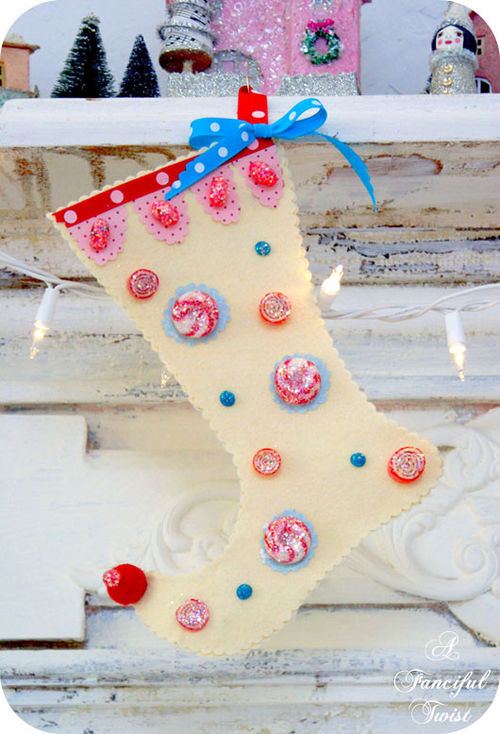 New Sew Sugar Plum Fairy Stocking (Template and cutouts)