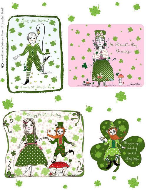 St. Patrick's Day Cardlettes
