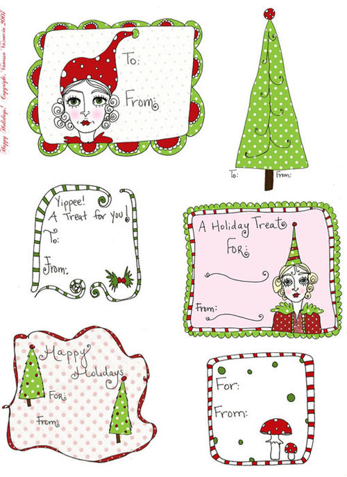 Free Printable Christmas tags & labels