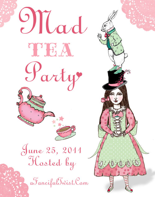 Mad Hatters Tea Party Invitation with amazing invitations template