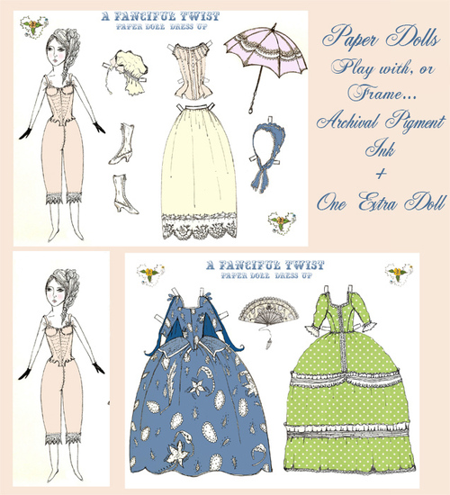 Victorian Flair Paper Dolls